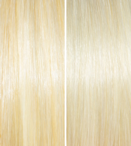Before & After - Blonde, Gray, and White Hair Neutralizer