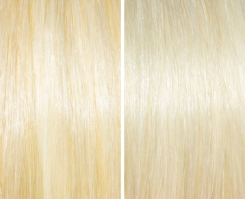 Blonde before/after