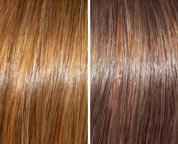 Dark blonde before/after